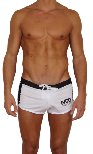 GYM & SWIM - white - sport shorts with jockstrap