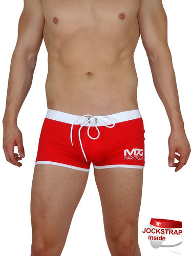 Ocean Force, Ultra Red, Swimwear with integrated JOCKSTRAP