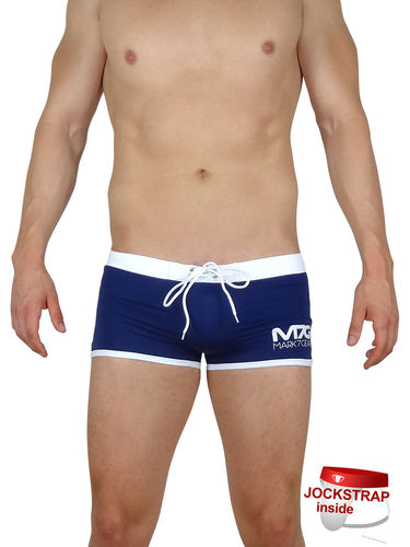 Ocean Force, Navy Blue, Swimwear with integrated JOCKSTRAP