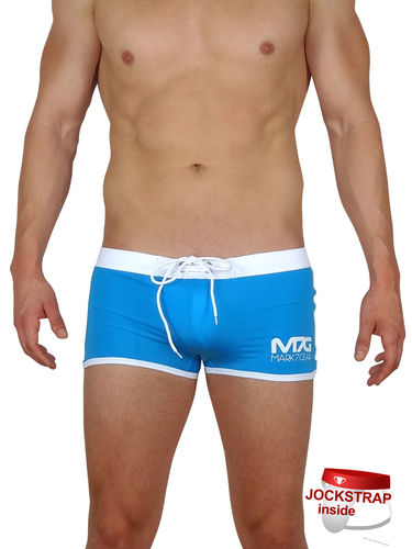 Ocean Force, Azure, Swimwear with integrated JOCKSTRAP