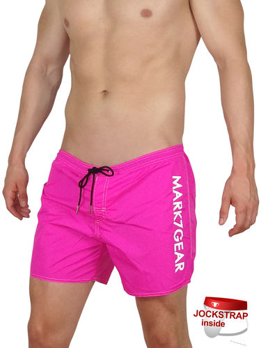 Sports Raider, Power Pink, Swimwear with integreted JOCKSTRAP