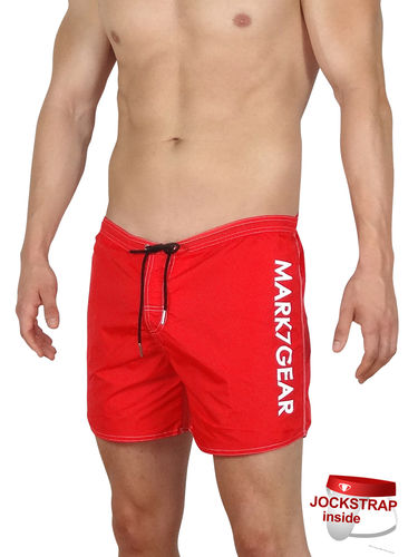 Sports Raider, Classic Red, Swimwear with integreted JOCKSTRAP