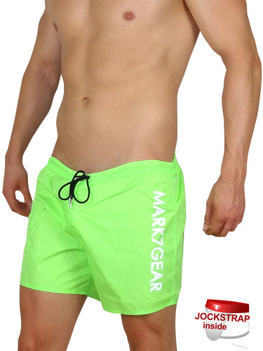 Sports Raider, Neon Green, Swimwear with integreted JOCKSTRAP